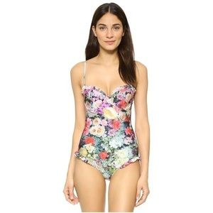 WILDFOX floral swimsuit